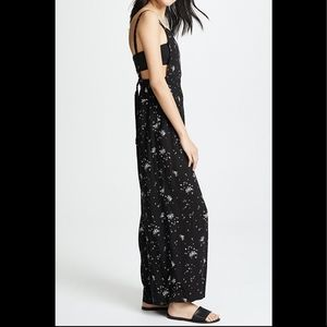 NWT free people sweet in the streets wide overalls